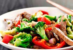 Pulpa Asada con Verduras Salteadas
