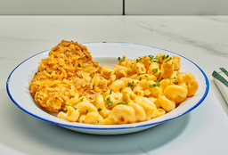 Macaroni&Cheese con Pollo Crispy