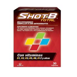 Shot-B Multivitamínico Complejo B Con Antioxidantes 30 Cápsulas