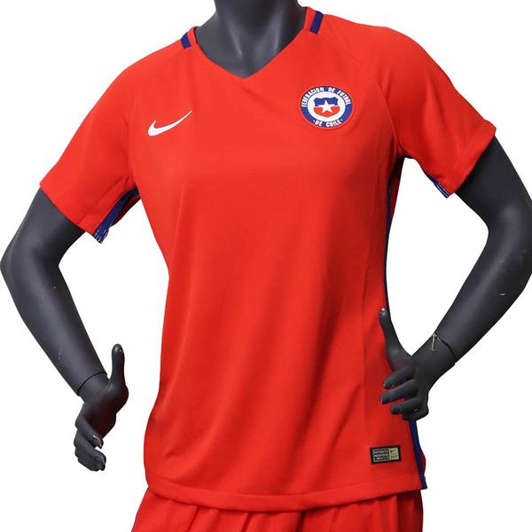 Nike Camiseta de Mujer Oficial Selección Chilena Dry Fit Rojo