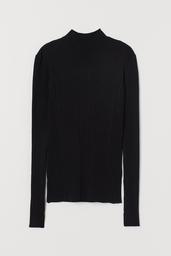 H&M Sweater Mujer Cuello Medio Color Negro