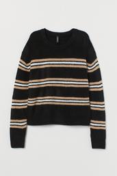 H&M Sweater Mujer Cuello Redondo Color Negro