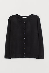 H&M Cardigan Mujer Color Negro
