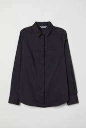 H&M Blusa Mujer Lisa Color Negro