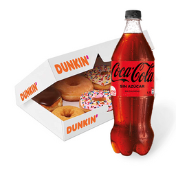 Donuts x6 + Bebida 1,5 Litros