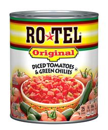 Rotel Tomates y Ajíes Verdes en Cubos