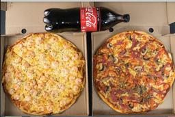 2 Pizzas Familiares + Bebestible
