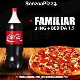 Familiar 3 Ing + Bebida 1.5 l