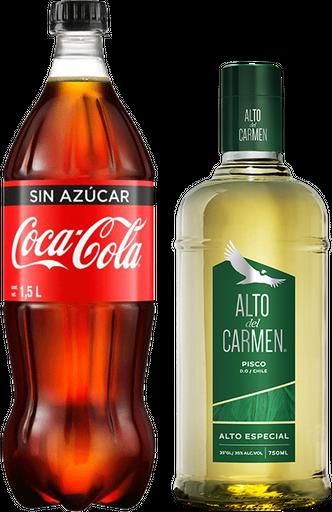 Promo Alto del Carmen 750 cc + Coca Cola Zero 1,5 lts