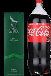 Promo Pisco Alto del Carmen 35° 1L + Coca Cola variedades 2.5Lts