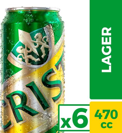 Cerveza Cristal 6Pack 470 cc Lata