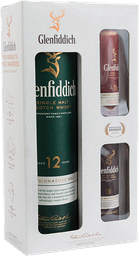 Whisky Glenfiddich 12 años 750mL pack regalo