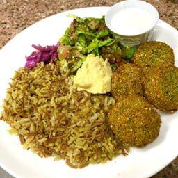 Arroz Árabe 4 Falafel