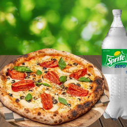 Pizza Veg Del Mes más Bebida