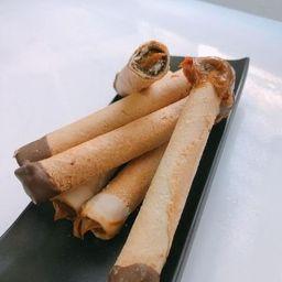 Barquillo Relleno de Manjar y Chocolate