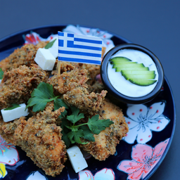 Greek Crunchy Fried Chicken