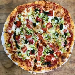 Pizza con Pollo Pesto Familiar