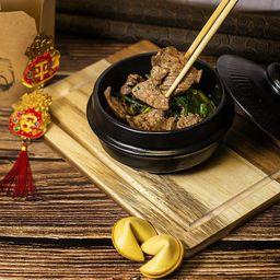 Carne Mongoliana Estilo Pumpkai