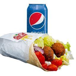 Combo Xl Shawarma Falafel y Bebida