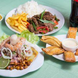 Menú Punta Hermosa 2 a 3 y bebida 1.5 l