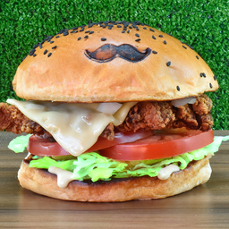 Lunch Fried Pollo Burger
