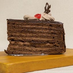 Trozo Torta Panqueque Chocolate