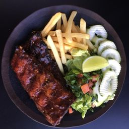 Costillas Ribs Barbeacue Piña
