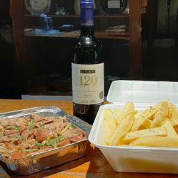Combo Tabla Criolla y Vino Tinto 750 ml