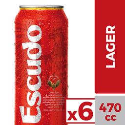 Cerveza Escudo Lt Sixpack 470mL/u
