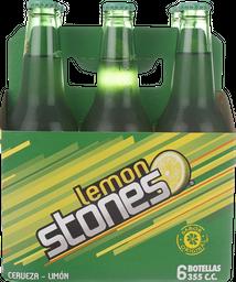 Cerveza Lemon Stones Ln Sixpack 355mL/u
