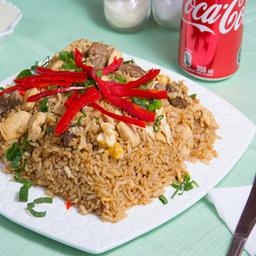 Menu arroz chaufa de pollo bebida 350ml