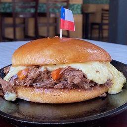 Sándwich Mechada Fondue