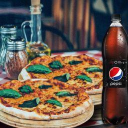 2x Pizzas Margaritas más Pepsi 1.5 l