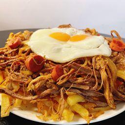 Chorillana Mixta de Pollo y Carne