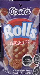Chocolate Rolls Con Centro Crocante 150 g