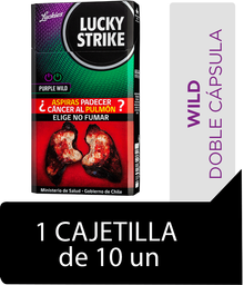 Lucky Strike Purple Wild Cigarrillos Cajetilla 10Un