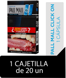 Pall Mall Click On Fresh Taste Blue Cigarrillos Cajetilla 20Un