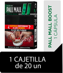Pall Mall Click On Menthol Boost Cigarrillos Cajetilla 20Un