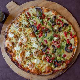 Pizza Capone mitad Vegetariana