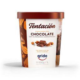 Helado Chocolate con Almendras 1 Lt