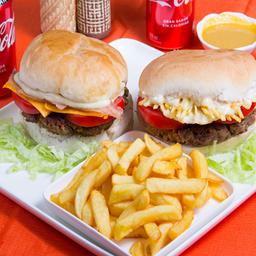 Promo Hamburguesa 1 - Queso Tocino + Royal