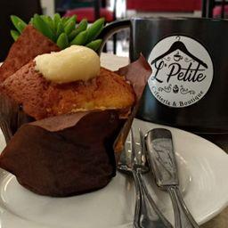 Muffins relleno con chocolate Blanco