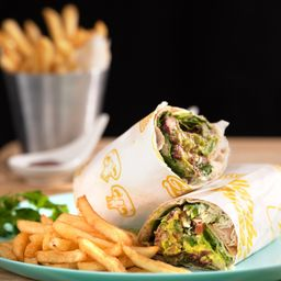 Wrap Vegetariano+ 200gr Papas Fritas