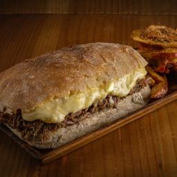 2 Sandwich Mechona + Papas Rusticas