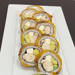 Platano Roll Pollo, Queso Crema,cebollín
