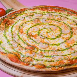 Pizza Camaron Pesto Familiar