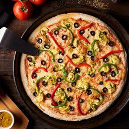 Pizza con Pollo Bombay