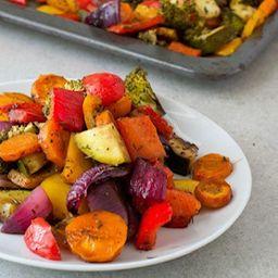 Mix de Vegetales Asados Al Ajo y Matequilla
