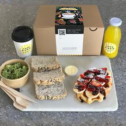 Caja de Desayuno Waffle