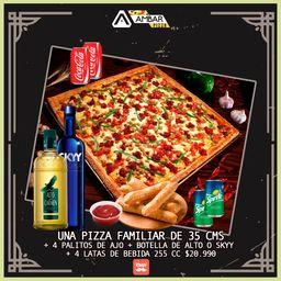 Pizza Familiar de 35cms